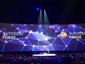 Cadac Modules op het hoofdpodium van Autodesk One Team Conference in Las Vegas